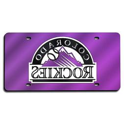 Colorado Rockies MLB Laser Cut License Plate Cover