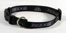 Colorado Rockies Black Pet Collar