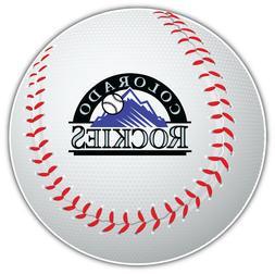 Colorado Rockies MLB Logo Ball Car Bumper Sticker Decal  - 3