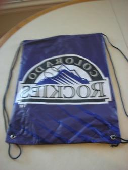 "Colorado Rockies MLB  Nylon Logo Drawstring Back Pack 17"" X"