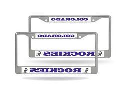 Colorado Rockies MLB  Chrome Metal License Plate Frames