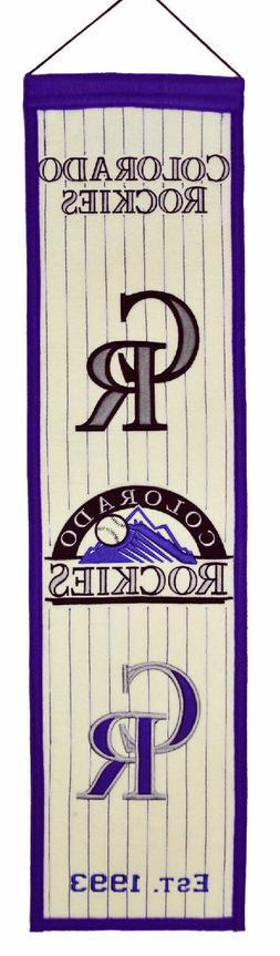 Colorado Rockies MLB Wool Heritage Vertical Banner Pennant N