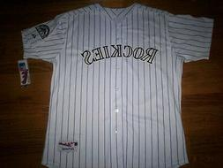 COLORADO ROCKIES NEW MLB MAJESTIC AUTHENTIC GAME JERSEY
