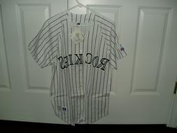 Colorado Rockies NWT NL buttondown jersey licensed MLB shirt