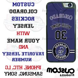 Colorado Rockies Personalize Baseball Jersey Phone Case Cove