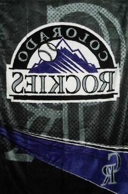 Colorado Rockies Plush Raschel Throw/Blanket