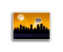 Colorado Rockies Poster City Skyline Art Print Man Cave Deco