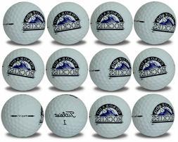 Colorado Rockies ProV1 Refinished MLB Golf Balls 12 pack