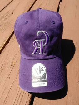 Colorado Rockies Purple '47 Clean Up Adjustable Hat