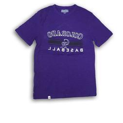 Colorado Rockies Purple Heather Men's Majestic T-Shirt NWOT