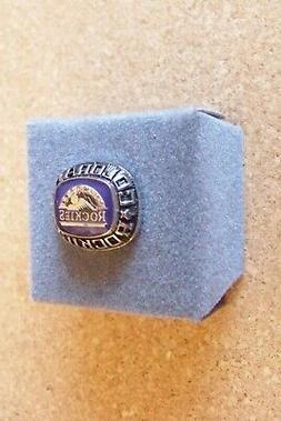 Colorado ROCKIES silver tone MLB pin ring style design tie t