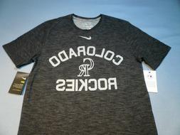 Nike Colorado Rockies Slub Arch Logo BRAND NEW shirt MLB dri