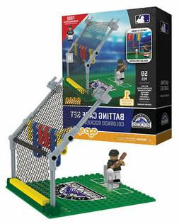 Colorado Rockies OYO Sports Toys Batting Cage Set with Minif