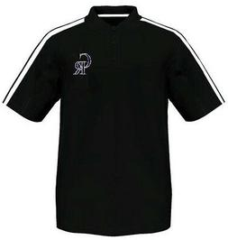Colorado Rockies Majestic Synthetic Arm Polo Shirt Black Men