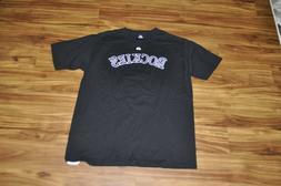 Colorado Rockies T Shirt Men's Size L Black Purple White Maj