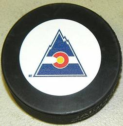 Colorado Rockies Team Autograph Model Throwback Hockey Puck
