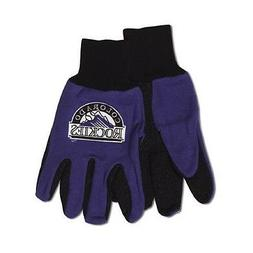 Colorado Rockies Two Tone Adult Size Gloves  NFL Work Hands