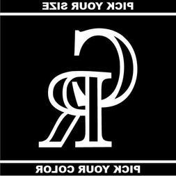 Colorado Rockies Vinyl Sticker / Decal * MLB * NL * West * B