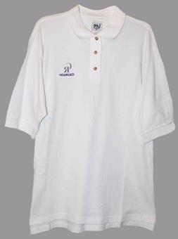 Colorado ROCKIES WHITE Polo SHIRT w CR Embroidered L NWT
