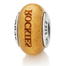 Colorado Rockies Pandora Wood Charm Baseball MLB