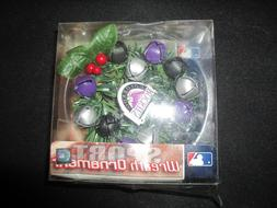 Forever Collectibles COLORADO ROCKIES Wreath Christmas Ornam