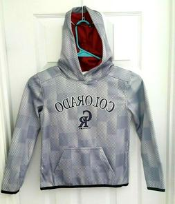 Colorado Rockies Youth Hoodie Size XS 4/5 Sweatshirt MLB Bas