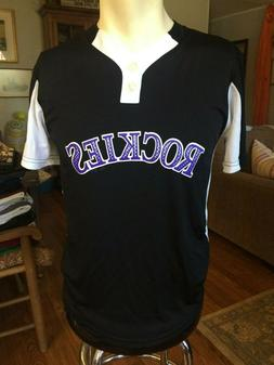 Majestic Cool Base Colorado Rockies Youth Large Baseball Jer