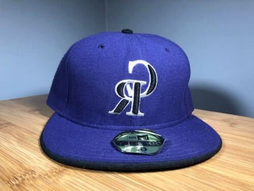 59fifty colorado rockies baseball hat purple fitted