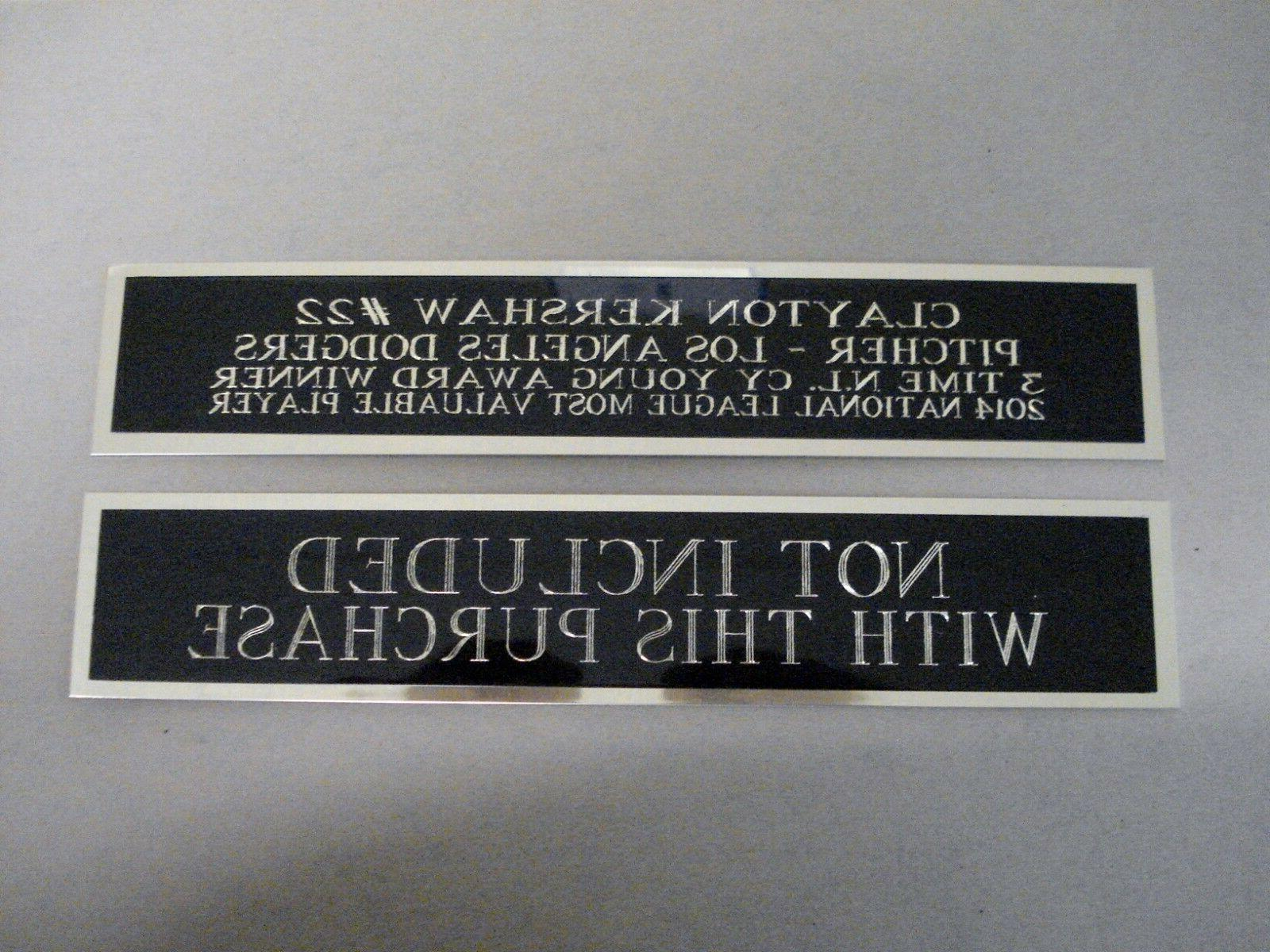 Charlie Autograph Nameplate Case