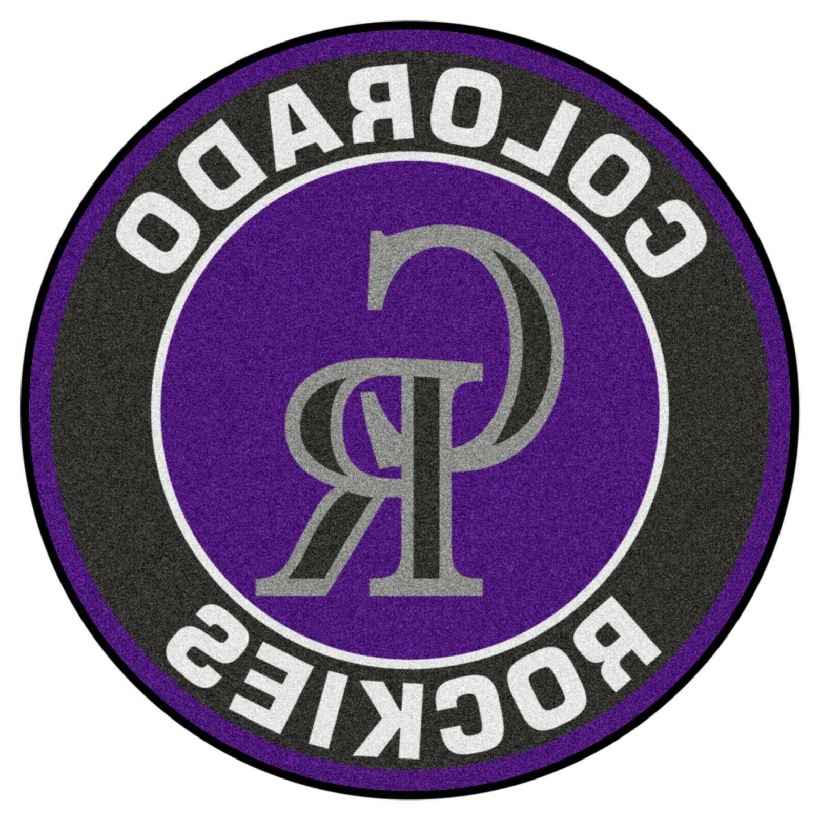 colorado rockies 27 roundel area rug floor