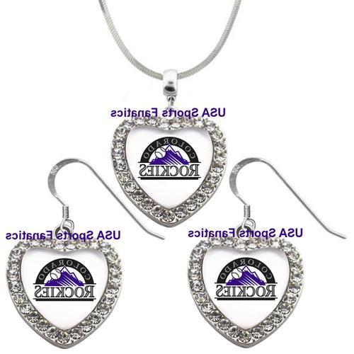 colorado rockies 925 necklace earrings or set