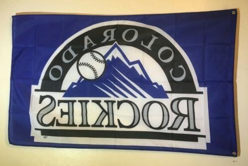 colorado rockies baseball 3x5 flag banner man