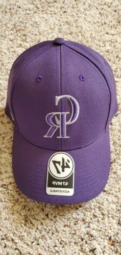 Colorado Rockies Baseball Purple Adjustable Hat