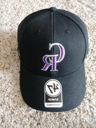 colorado rockies black 47mvp adjustable hat