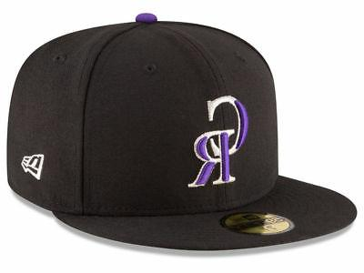 colorado rockies game 59fifty fitted hat black