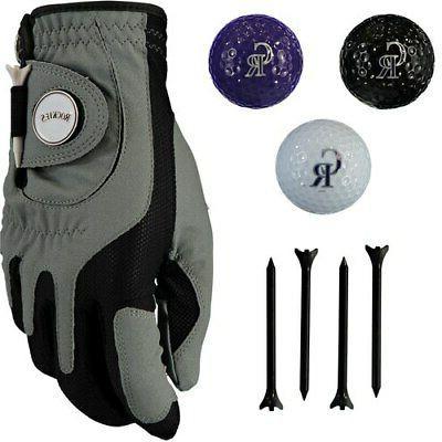 colorado rockies golf balls tees and glove