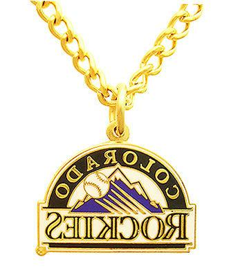 colorado rockies mlb logo necklace