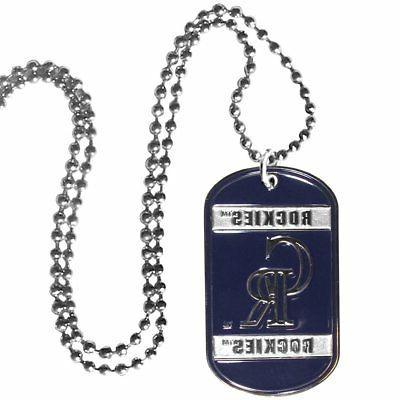 Colorado MLB Tag Necklace Siskiyou 450532