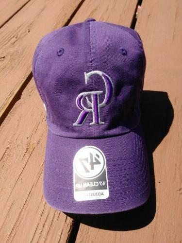 colorado rockies purple 47 clean up adjustable