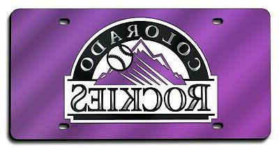 colorado rockies purple premium laser cut tag