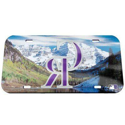 colorado rockies scenery crystal mirror license plate