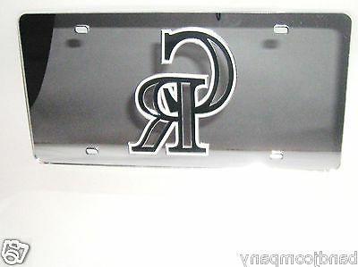 colorado rockies silver cr license plate laser