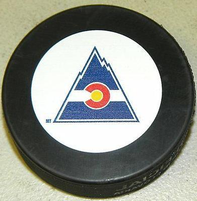 colorado rockies team autograph model throwback hockey
