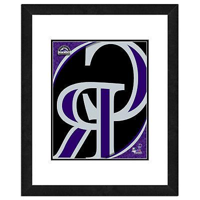 colorado rockies team logo framed print picture