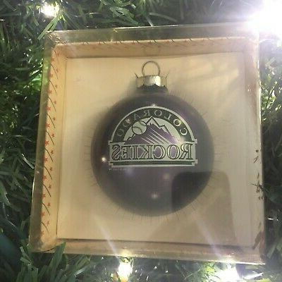 colorado rockies vintage glass ornament new w