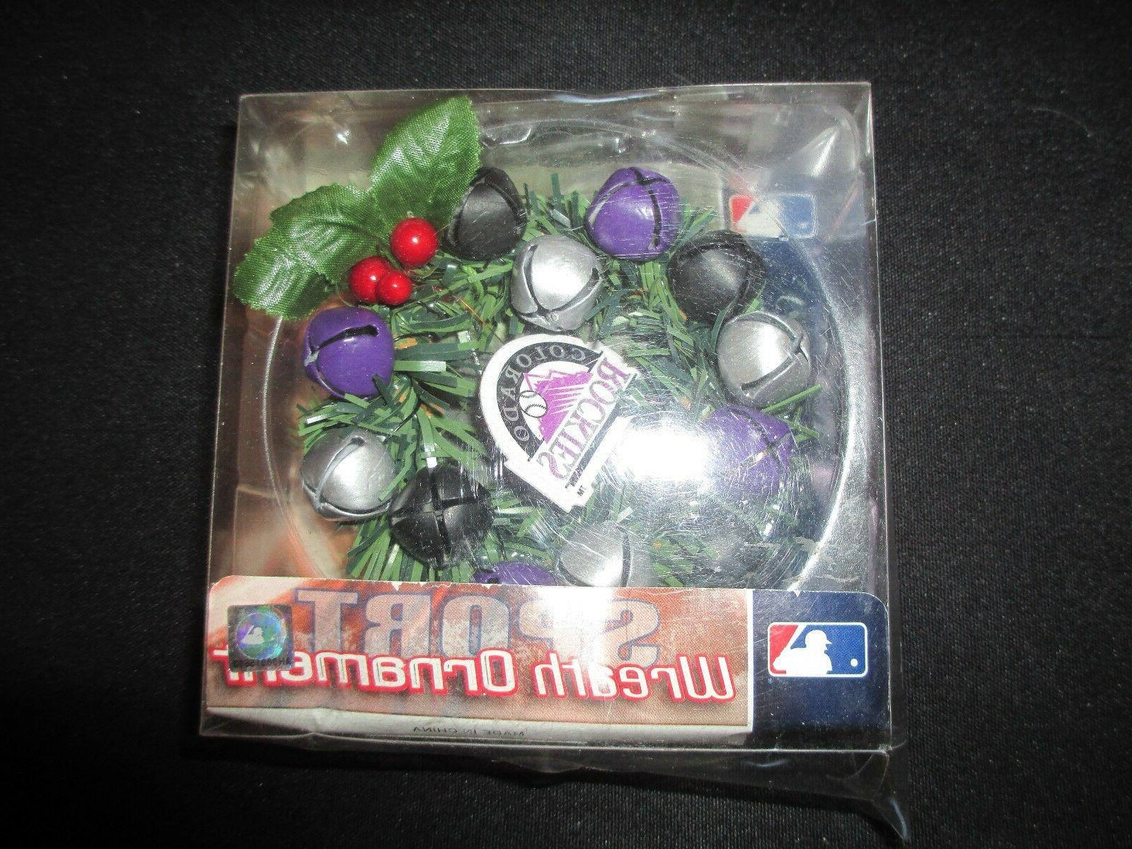 colorado rockies wreath christmas ornament new in