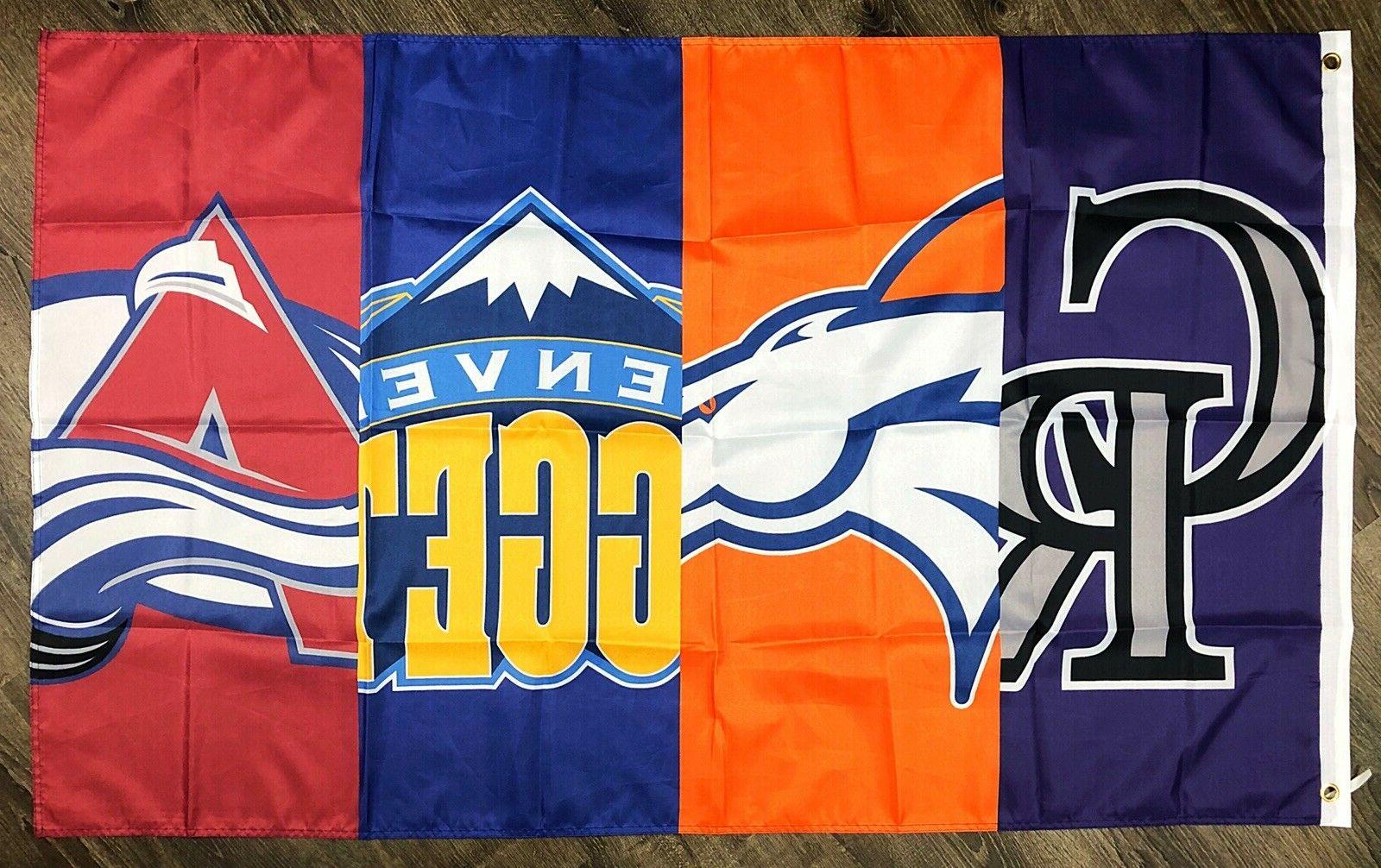 Denver Broncos Nuggets Rockies Avalanche ft Banner