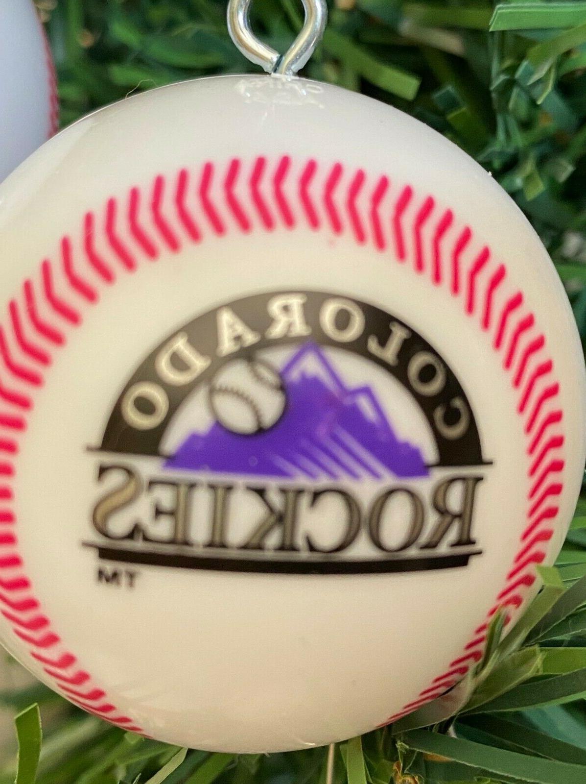 "MLB Colorado piece Shatterproof Baseball Ornaments 2"""