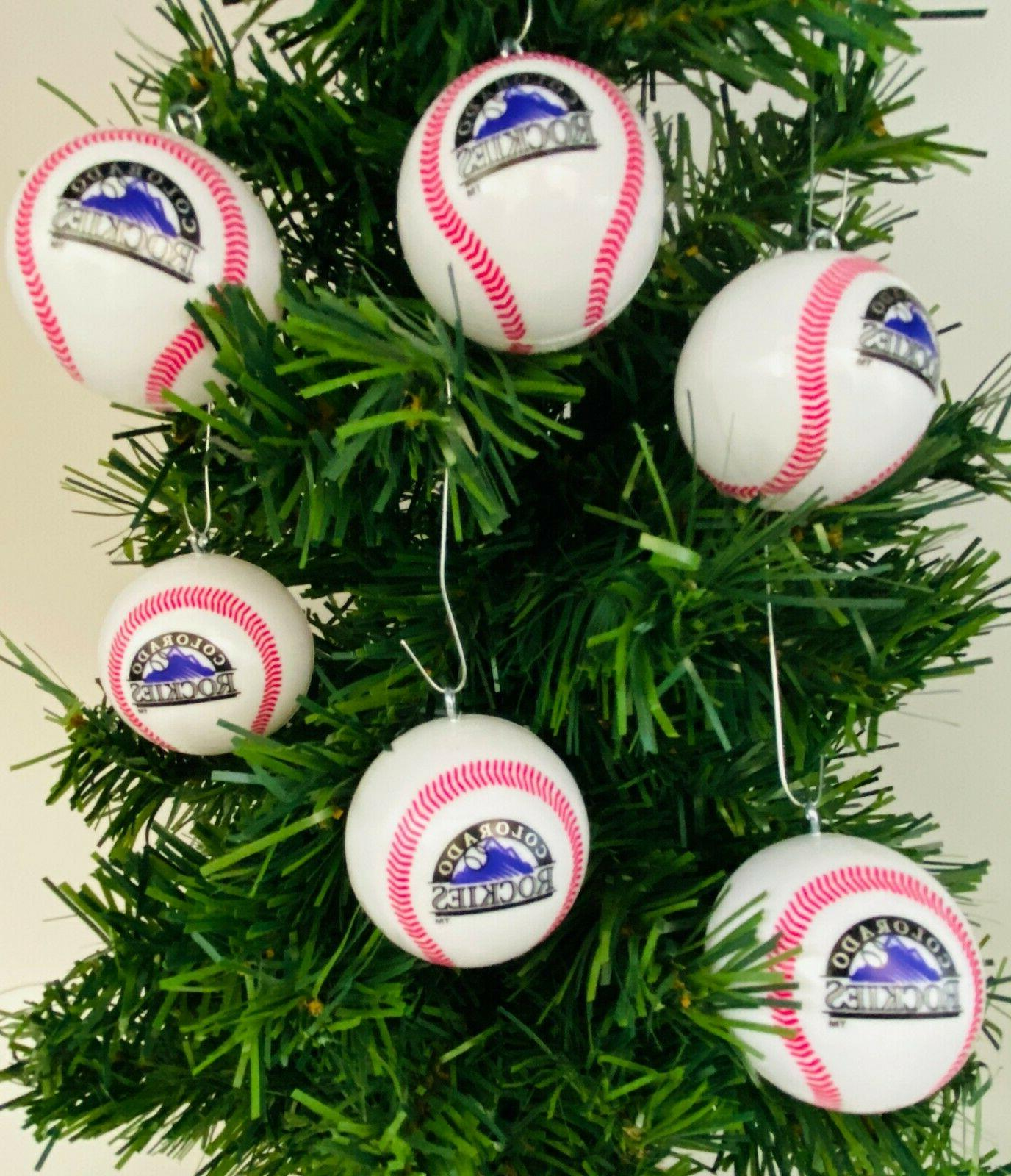 mlb colorado rockies 6 piece shatterproof baseball