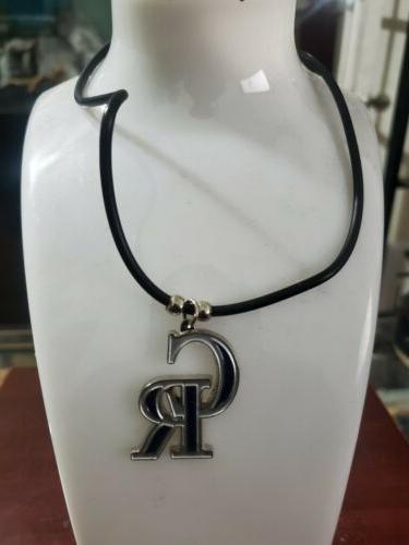 mlb colorado rockies rubber cord necklace